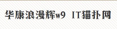 华康浪漫辉W9 免费版 0