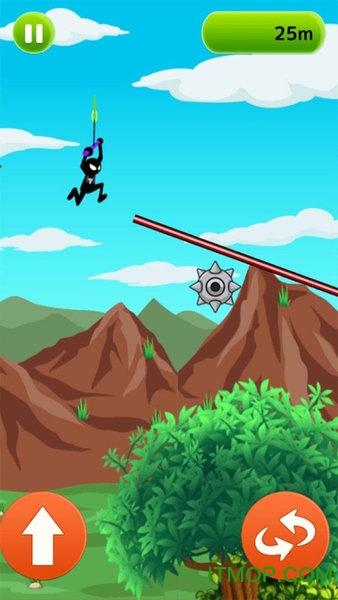 蜘蛛�b�K索滑翔 v2.0 安卓版 2