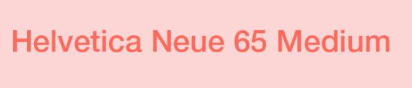 helvetica neue medium字体