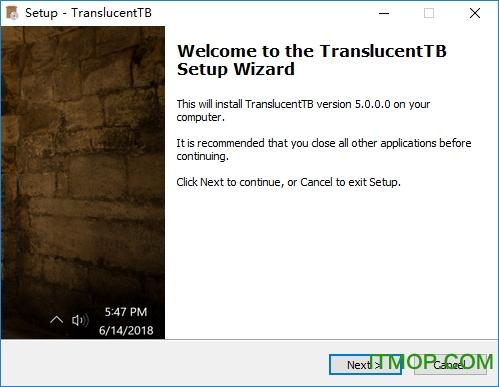 TranslucentTB(win10任务栏透明工具) v5.0.0.0 官网版 0