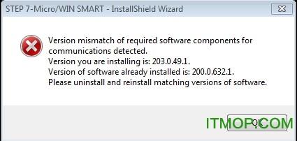 卸载PC ACCESS SMART软件后重新安装STEP 7-MicroWIN SMART V2.2软件。