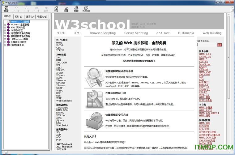 W3CSchool菜鸟教程chm