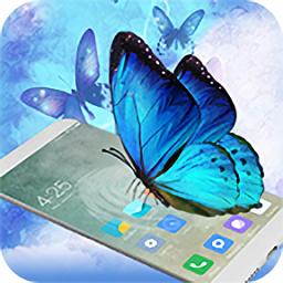 蝴蝶在手�C上�w舞新版(Butterfly in phone)