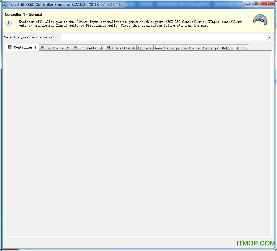 TocaEdit Xbox 360 Controller Emulator(Xbox 360控制器模拟器) v3.2.10.82 官方版 0
