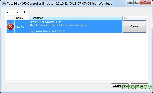 TocaEdit X360 Controller Emulator