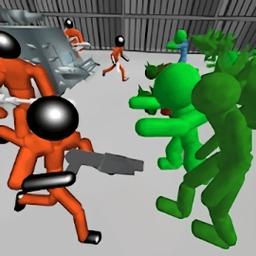 火柴人战斗模拟器破解版(stickman prison battle simulator: zombies)