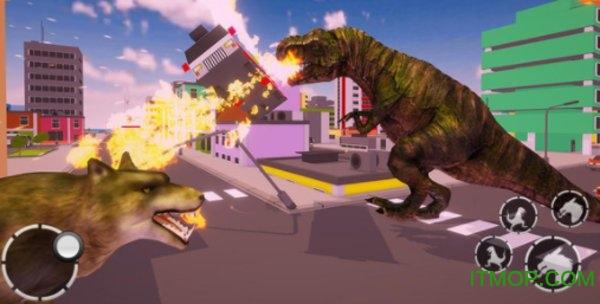 恐龙摧毁城市模拟游戏下载