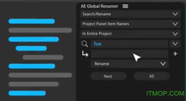 Global Renamer(AE图层素材批量重命名脚本) v2.2 最新版 0