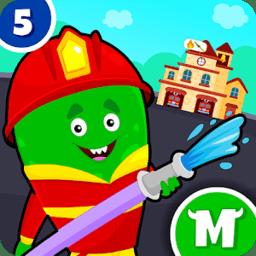 我的怪物城�消防�T(My Monster Town Fire Station)