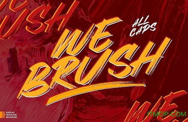 webrush美式涂鸦字体