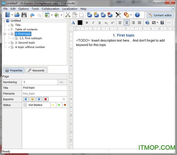 dr explain(chm帮助文档制作软件) v5.6.1129 免费破解版 0