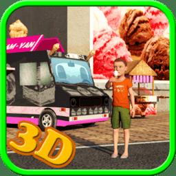 冰淇淋送货卡车(Ice Cream Delivery Van 3d)