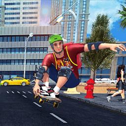 疯狂滑板少年(城市跑酷)