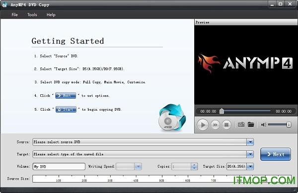 AnyMP4 DVD Copy(DVD拷贝龙8娱乐网页版登录) v3.1.30 特别版 0