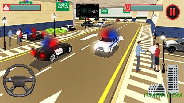 警车停车模拟器游戏