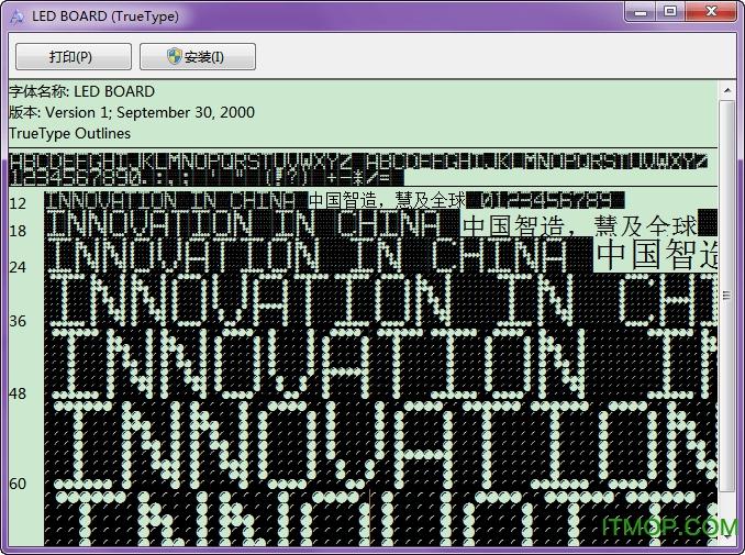 LED BOARD液晶字体 免费版 0