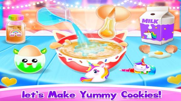 儿童独角兽饼干游戏