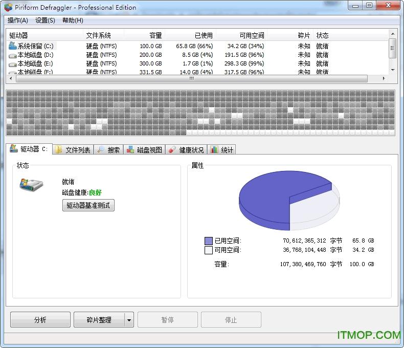Piriform Defraggler-Professional Edition v2.22.995 绿色单文件版 0