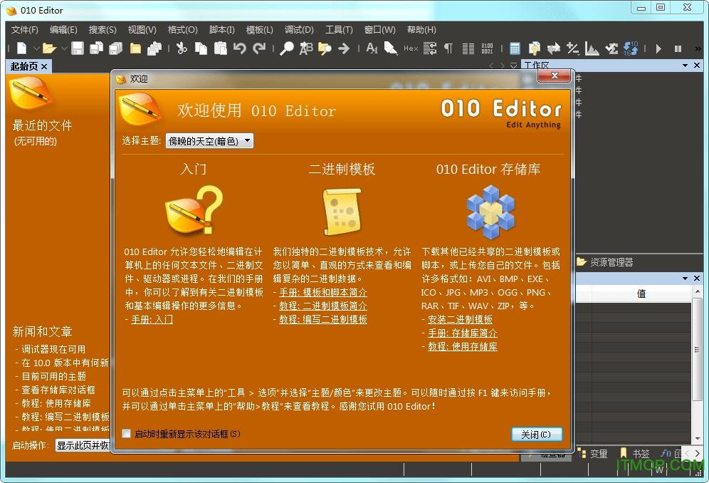 十六进制编辑器(010 Editor 64位) v10.0.1 汉化绿色版 0