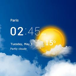 透明时钟和天气插件app