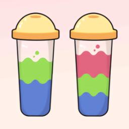 液体分类水彩拼图游戏