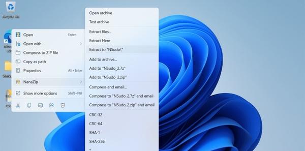 NanaZip文件压缩工具(win11压缩软件) v1.0.31.0 官方版 0