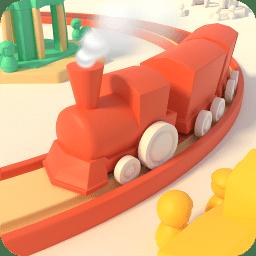 连接火车轨道游戏