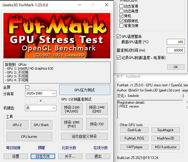 Geeks3D Furmark显卡测试