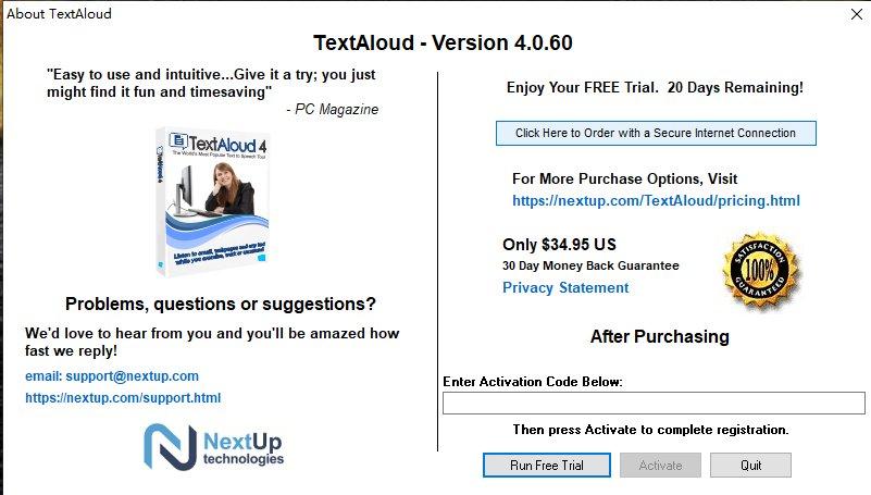 文字�DMP3�件(NextUp TextAloud) v4.0.60 免�M版 0