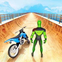 超级英雄斜坡摩托