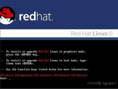 安�b�t帽子RedHat Linux9.0操作系�y教程