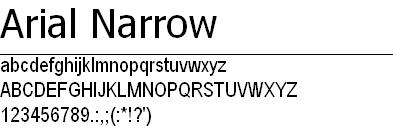 网页设计中常用的19个Web安全字体